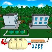 Установка биологической очистки бытовых сточных вод ЭКО-Б 3-30 производительность 3,0...30,0 м3/сутки